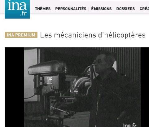 Video de l'INA : mécanicien d'helicoptère