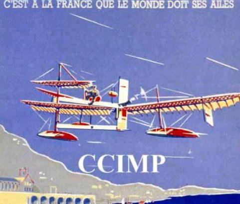 Affiche 1er vol en hydravion Henri Fabre - Affiche CCIMP