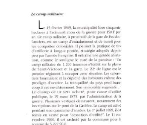 Fac-similé Le Temps retrouvé : Camp militaire - Archive Michel Méténier