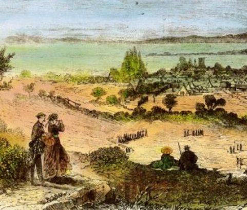 Gravure camp militaire par le sous-lieutenant Laurent - Archive Michel Metenier