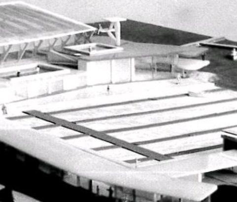 Maquette du centre nautique - Photo Archives municipales