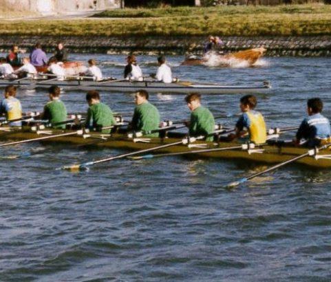 Aviron sur le canal - Photo Archives municipales