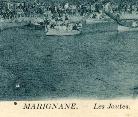 Carte postale Joutes sur le canal - Archives municipales