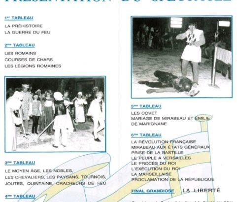 Programme spectacle son et lumière de la colline - Archives municipales