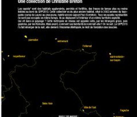 Carte des oppida celtes selon Christine Breton 2013