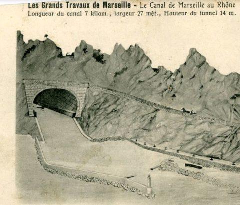 Construction du canal et du tunnel - Archives Villes de Marignane