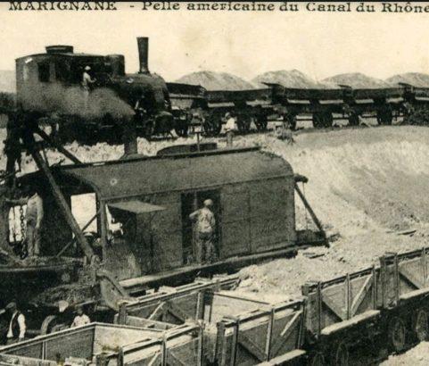 Construction du canal et du tunnel - Archives Ville de Marignane