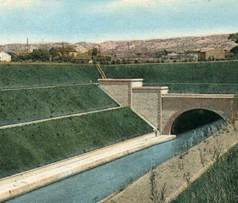 L'embouchure du canal - Photo Archives Ville de Marignane