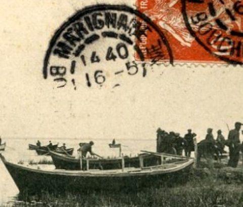 La battue aux foulques - carte postale ancienne