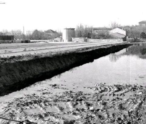 Travaux du Parc Camoin - Photo Archives municipales
