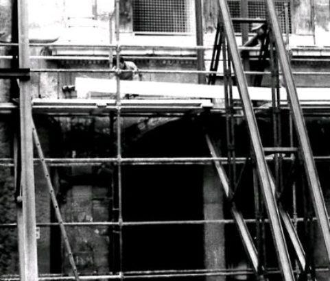 Travaux château -Photo Archives municipales