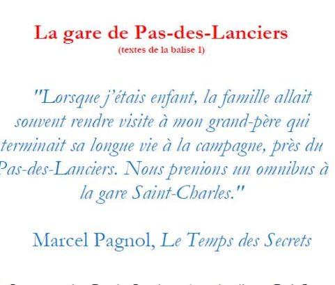 Texte de la balise sur le GR2013 Pas des Lanciers