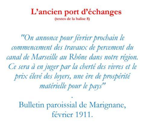 Texte de la balise sur le GR2013 Ancien port d'échanges