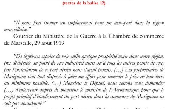 Texte de la balise sur le GR2013 Hangars Boussiron