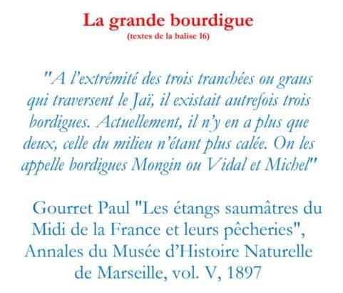 Texte de la balise du GR2013 La Grande Bourdigue