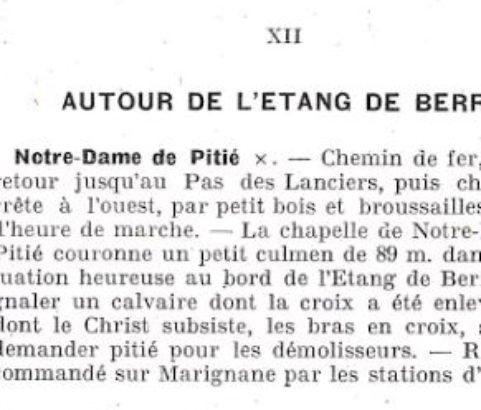 Extrait du guide de Paul Ruat - 1892